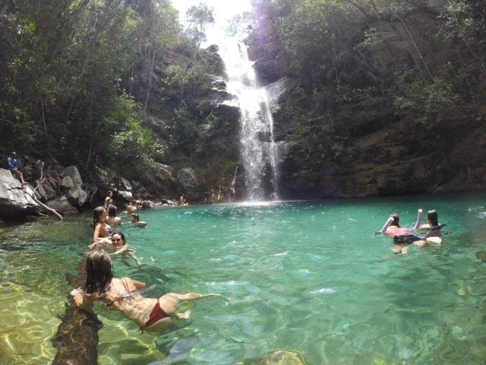 Cachoeira Santa Bárbara, Cavalcante, Chapada dos Veadeiros